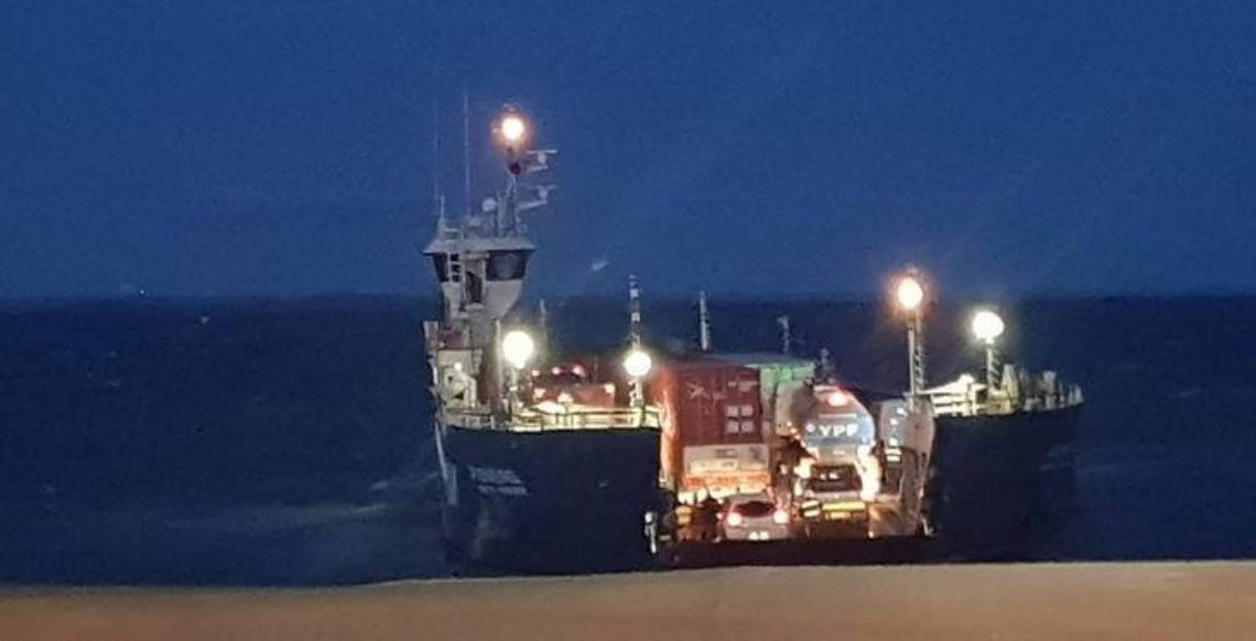 Nuevo horarios para cruzar la barcaza en el Estrecho de Magallanes