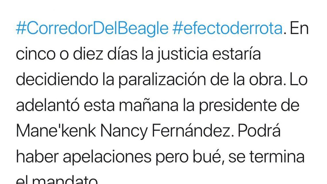 Periodista fueguina que vive en La Plata adelantó presunta decisión judicial.