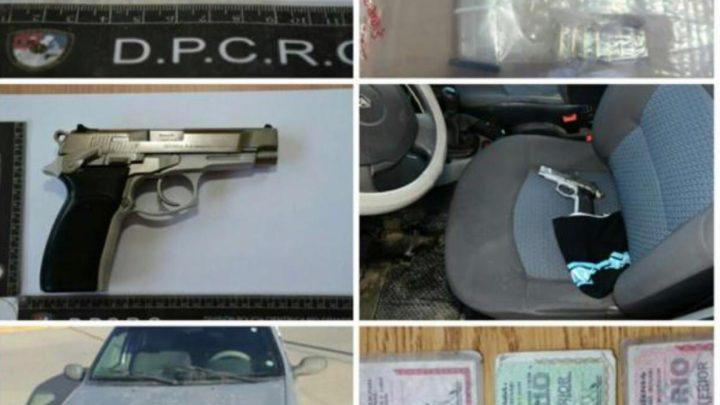 PERSONAL POLICIAL DETIENE A DOS PERSONAS QUE MANIPULABAN UN ARMA DE FUEGO
