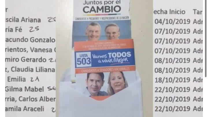FORJA utiliza radicales para repartir su boleta junto a la de Macri