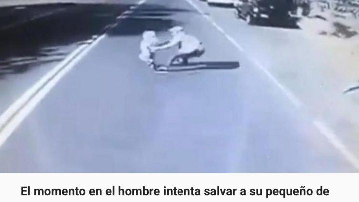 Un papá murió tras lanzarse frente a un colectivo para evitar que atropellara a su hijito de 4 años