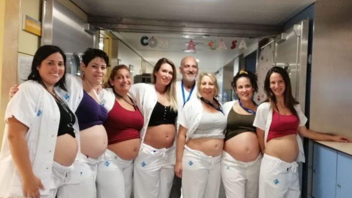 """La """"epidemia"""" en un hospital de Barcelona: siete enfermeras embarazadas a la vez"""