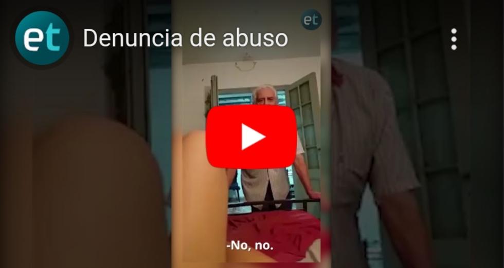 [VIDEO] INFIERNO EN CUARENTENA:Grabó cómo es acosada por su propio abuelo
