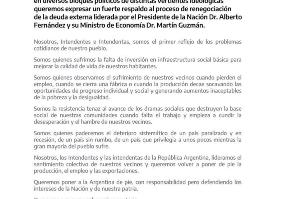 WALTER VUOTO RESPALDÓ LA RENEGOCIACIÓN DE LA DEUDA DEL EQUIPO DE ALBERTO FERNÁNDEZ