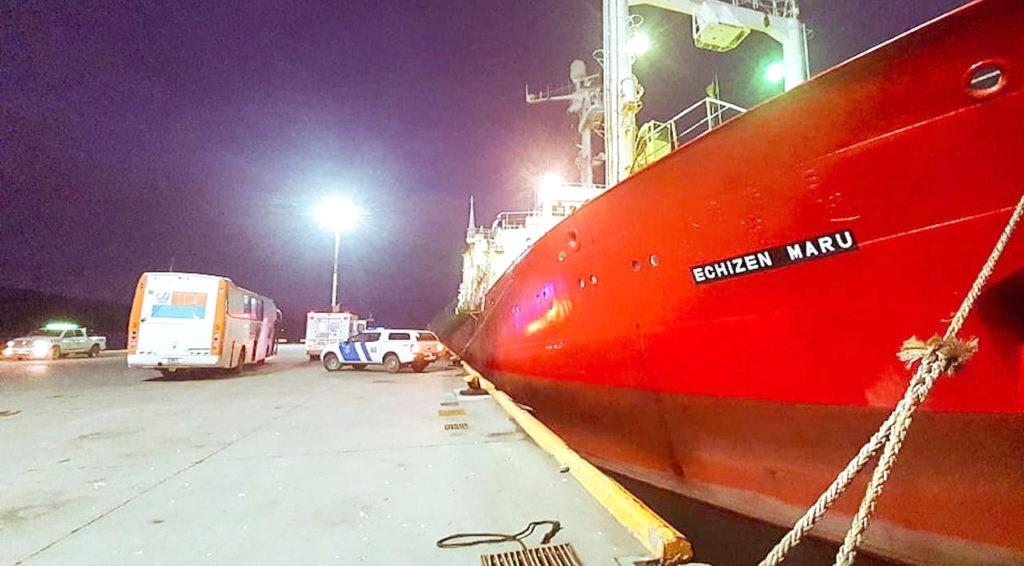 28 tripulantes del buque Echizen Maru fueron dados de alta