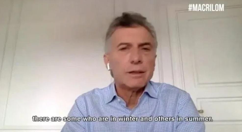 La frase viral de Macri: «Mientras unos están en verano, otros están en invierno»
