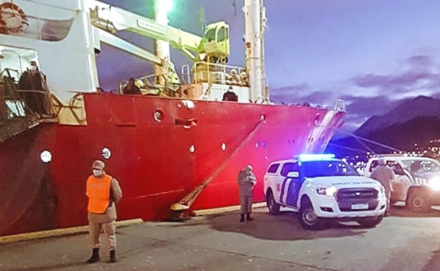 URGENTE: 57 de los 61 tripulantes del buque dieron positivo en COVID-19