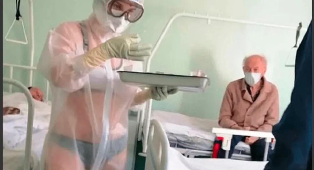 Enfermera atendía a pacientes con coronavirus en ropa interior: acabó sancionada