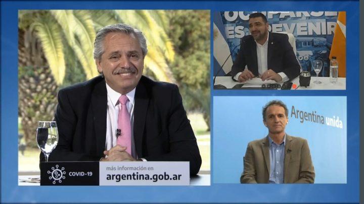 WALTER VUOTO Y MARTÍN PÉREZ PARTICIPARON DEL LANZAMIENTO DE ALBERTO FERNÁNDEZ DEL PLAN DE OBRAS