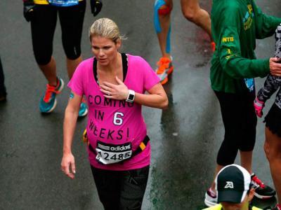 Dio a luz tras correr siete kilómetros sin saber que estaba embarazada