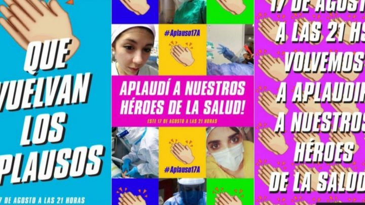#Aplauso17A Convocan a reconocer a los «héroes de la salud» hoy a las 21