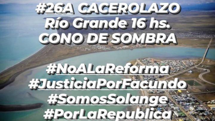 En Río Grande también habrá #26A: Vecinos se autoconvocan en la Plaza de las Américas