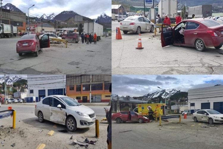 Violento choque en Ushuaia dos heridos
