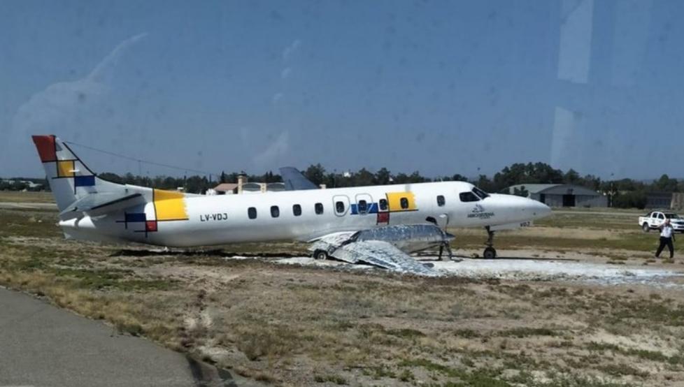 En Mendoza, despistó un avión de una empresa riograndense y cerraron el aeropuerto
