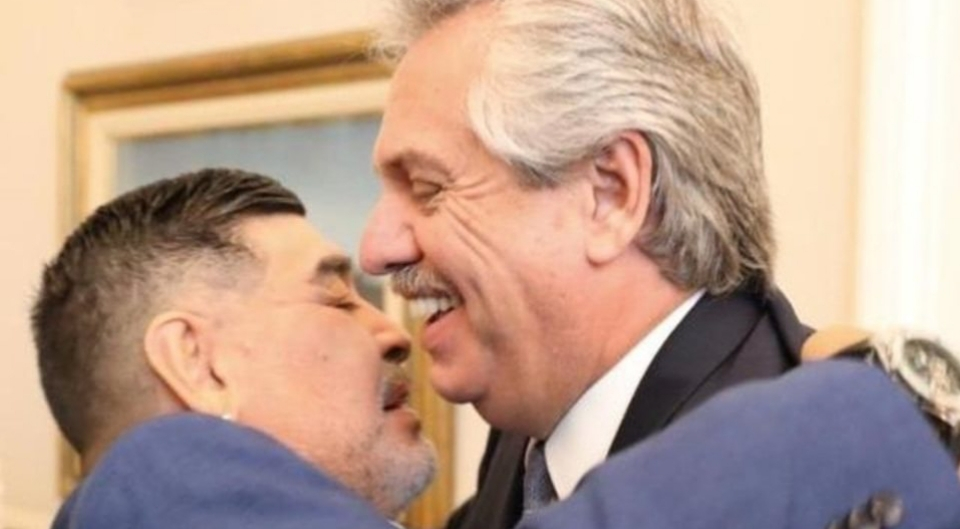 """Alberto Fernández: """"Diego era Argentina en el mundo y nunca le vamos a poder pagar tanta alegría"""""""