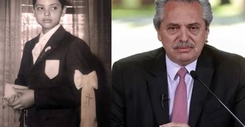 Un hombre comparó su imagen con una de Alberto cuando era chico y el parecido es viralizó en las redes