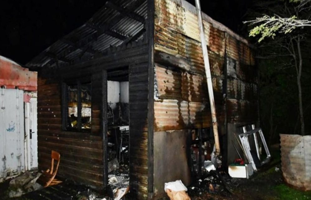 Un incendio destruyó una casilla
