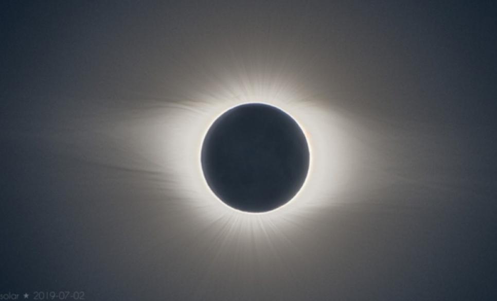 A horas del eclipse total de Sol
