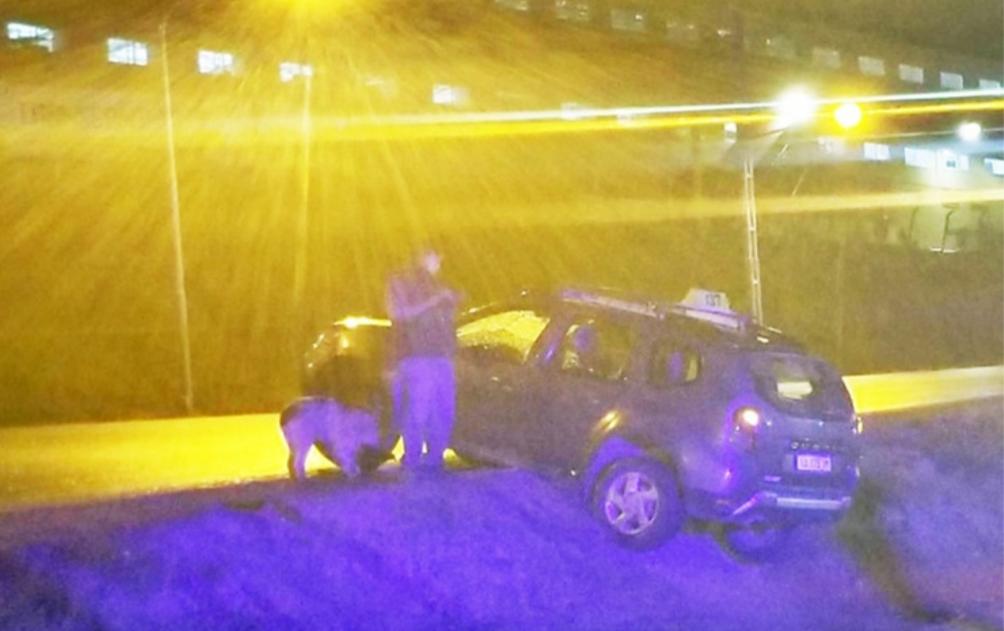 Un despistado y dos conductores demorados en Ushuaia