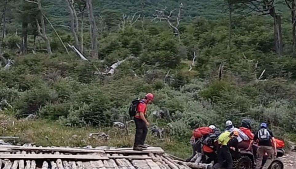 Ushuaia: gran operativo de rescate de una mujer de 47 años