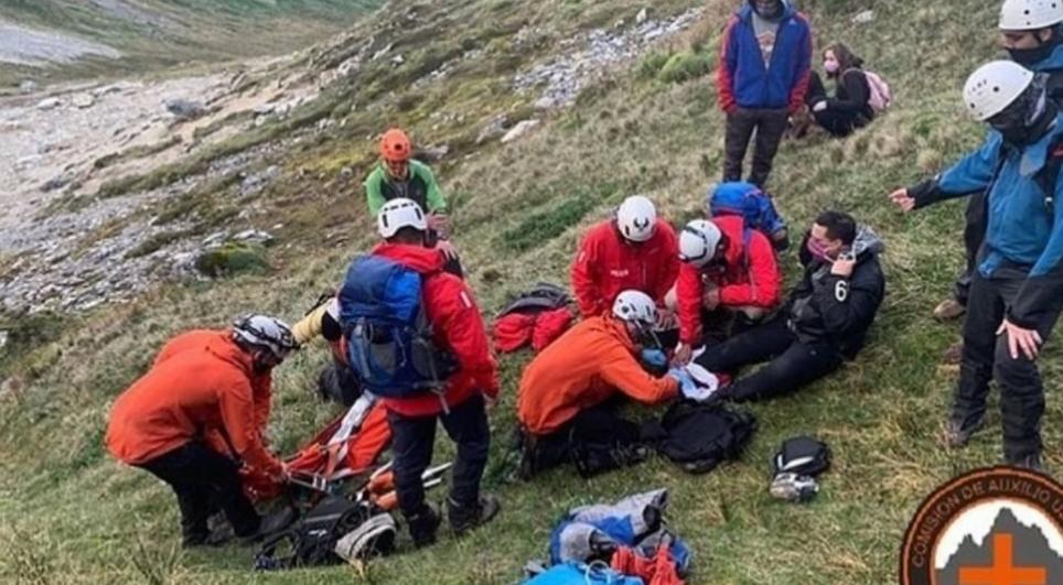 Otro fueguino es evacuado en zona de Laguna tras sufrir un accidente