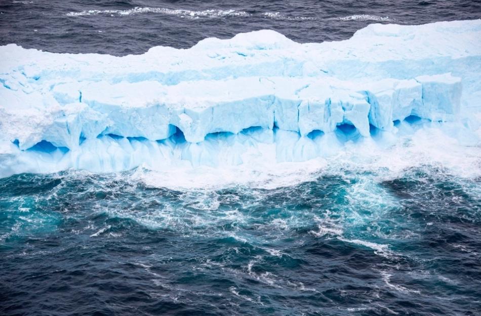 Así se ve el iceberg más grande del mundo desde el aire