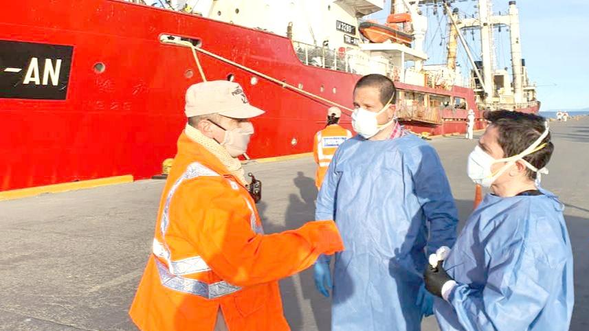 """Otra vez el buque """"Tai An"""" regresó al puerto con tripulación con COVID"""