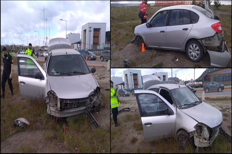 Choque contra un poste, despiste y vehiculo incautado en Ushuaia