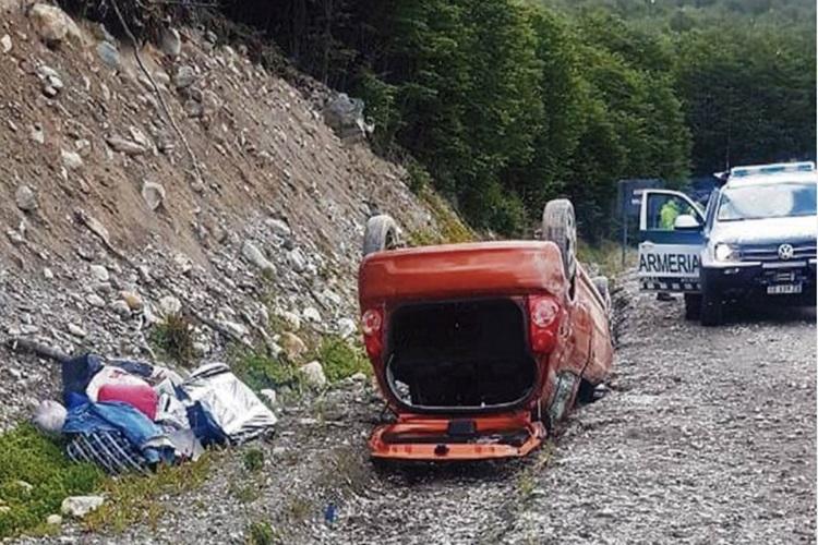 Despiste y vuelco en la Ruta 3 sin lesionados