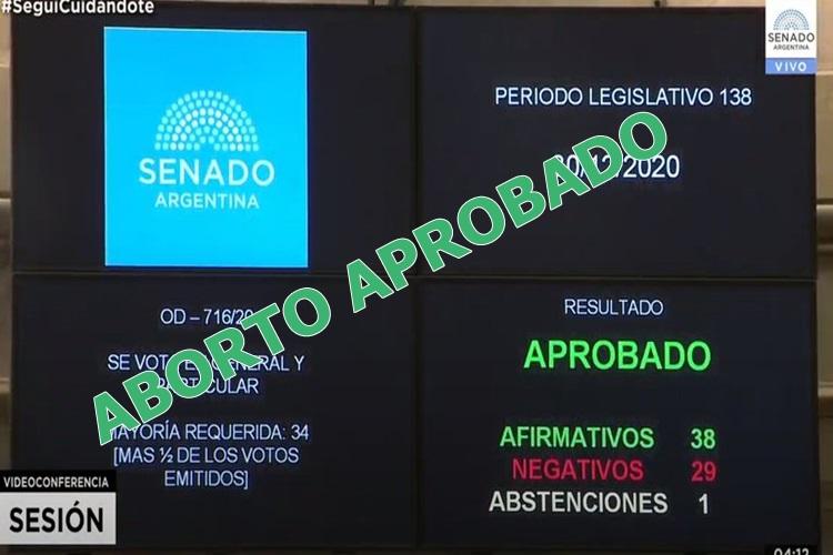 El Senado aprobo el Aborto Legal en Argentina