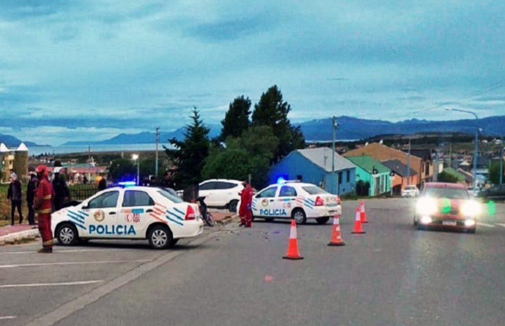 Motociclista lesionado en choque en Ushuaia