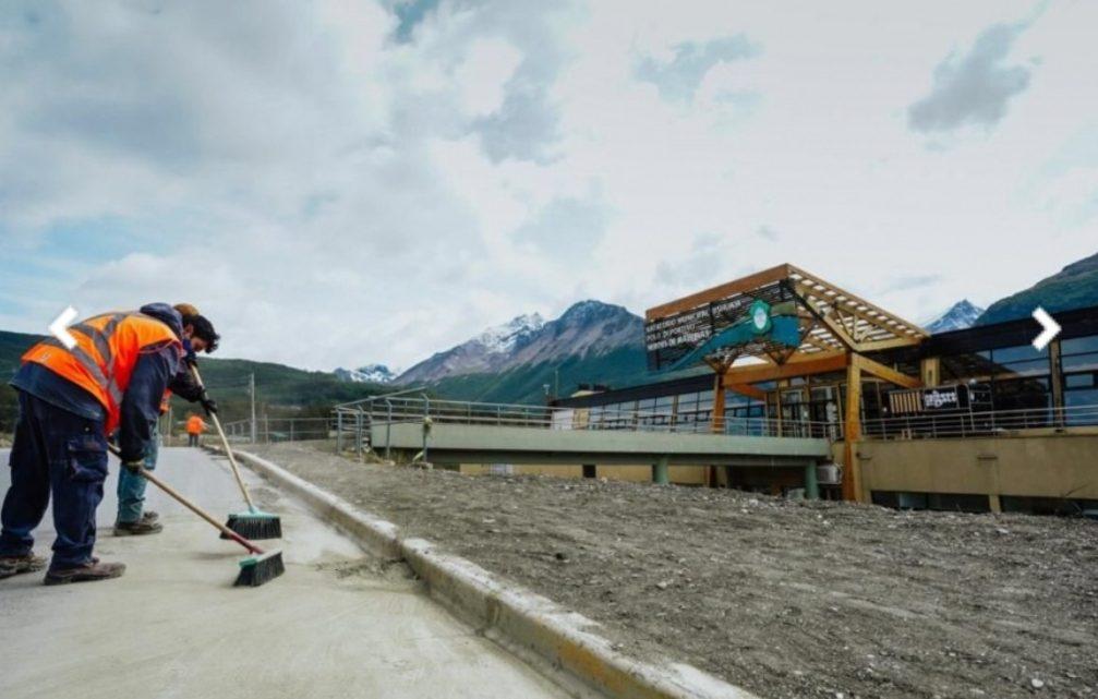 Plan de obras en Ushuaia: «Seguimos mejorando el Polo Deportivo en el barrio de Andorra»