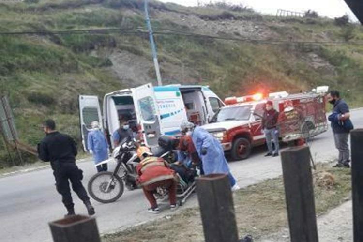 Motociclista lesionado en avenida Alem de Ushuaia