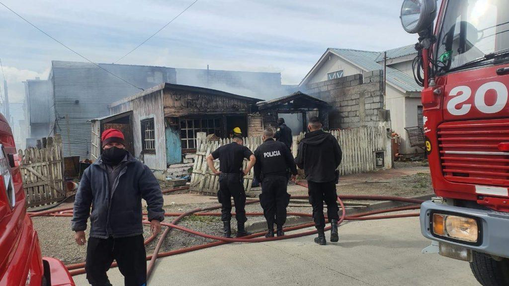 Un calefactor que perdía gas provocó el incendio de dos casas