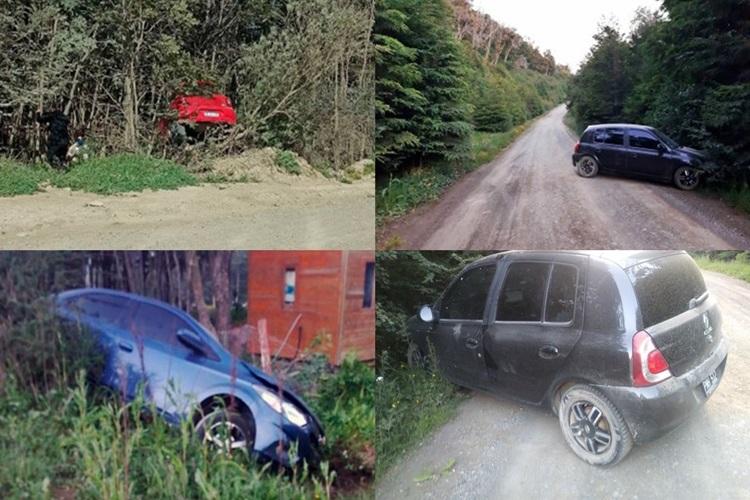 Tres accidentes de transito en Ushuaia