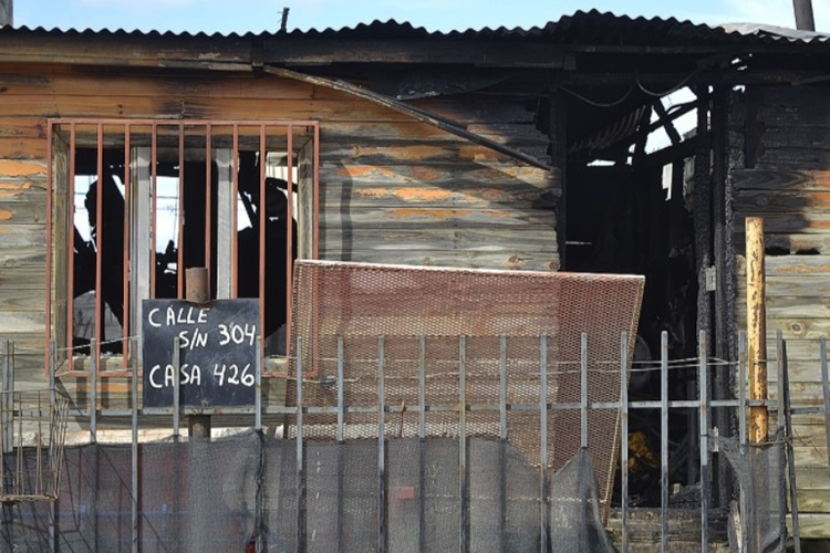 Incendio afecto una vivienda