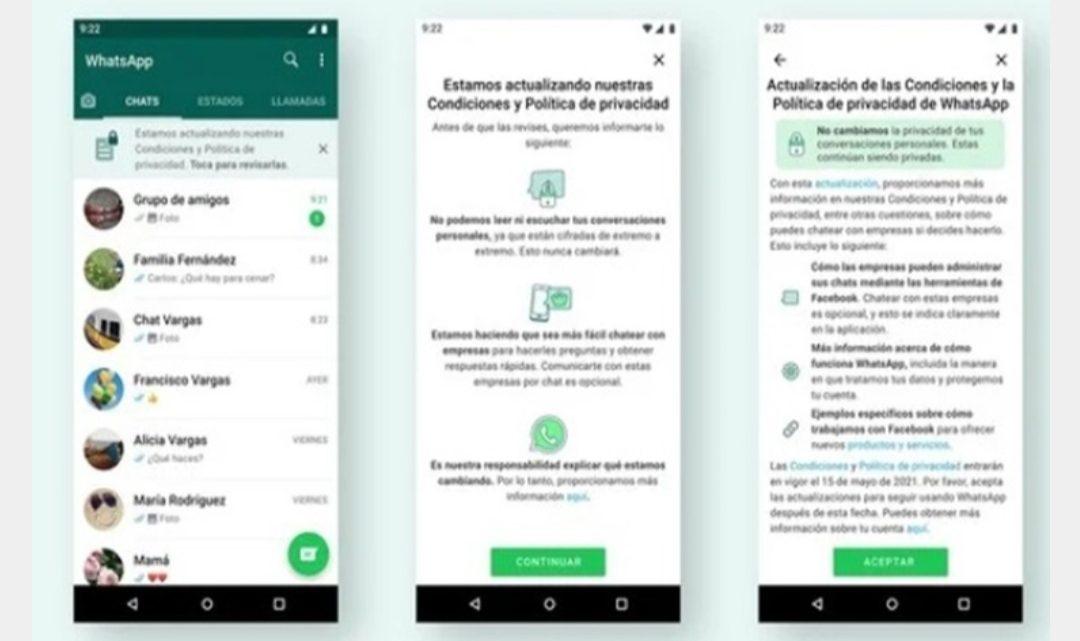 WhatsApp no dejará leer, ni enviar mensajes sino aceptas las nuevas condiciones
