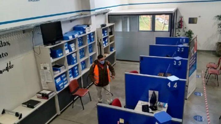 La Municipalidad de Ushuaia realizó la desinfección de las sedes de PAMI y ANSES
