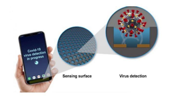 Crean un sensor que detecta COVID en tu teléfono celular