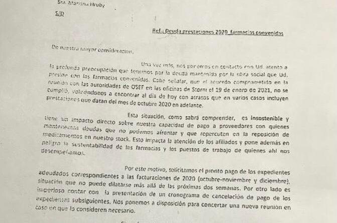 Falta de pago: Farmacias de Ushuaia suspende atención a la OSEF
