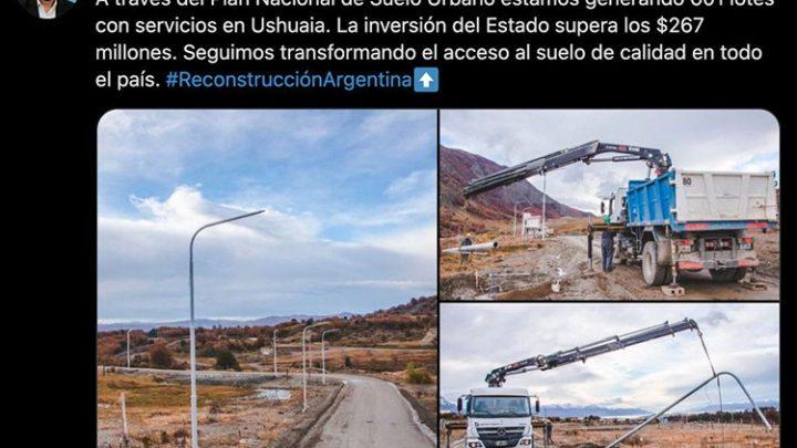 Ferraresi destacó el trabajo del Plan Nacional de Suelo Urbano en Ushuaia