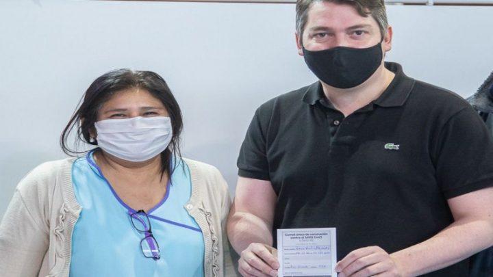 Martín Perez agradeció al personal de salud y destacó el avance del plan federal de vacunación