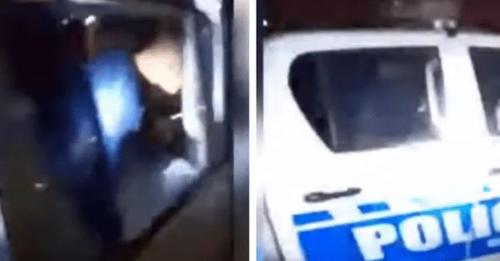 Vecino filmó a dos policías abusando de una menor de edad en el patrullero