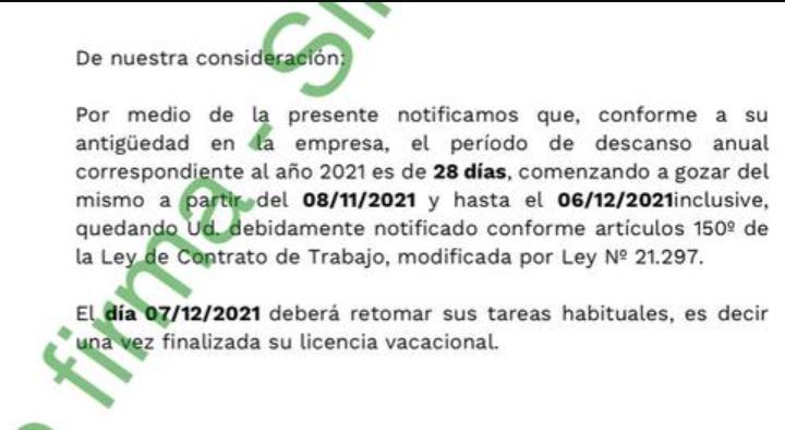 Brightstar ya notificó a los trabajadores que las vacaciones se adelantan al 8 de noviembre