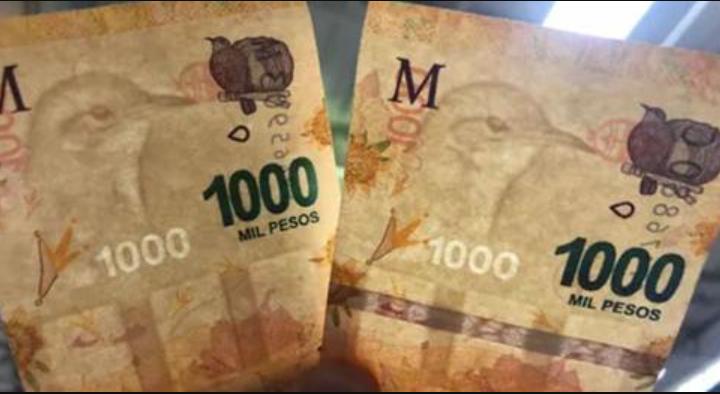 Los billetes con errores también cotizan por las nubes: venden por $20.000 uno de 1.000 pesos con una falla que pocos notarían